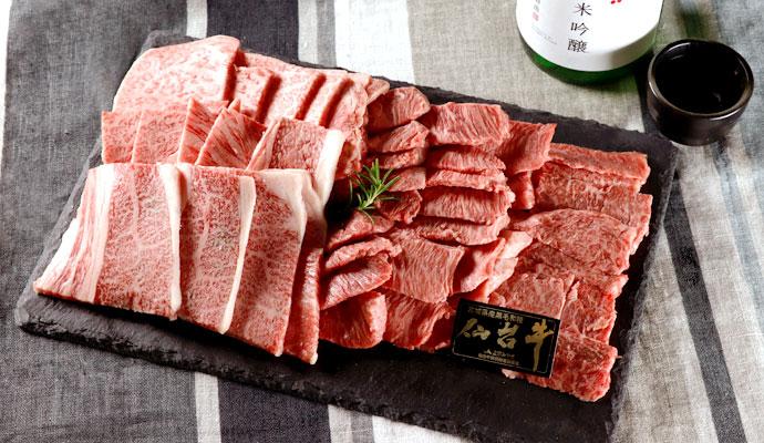 寒梅酒造 オリジナル純米吟醸/仙台牛焼肉セット