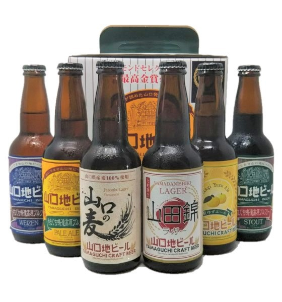 やまぐち鳴滝高原ブルワリー6種飲み比べセット(萩ゆずエール・山田錦ラガー・山口の麦・ペールエール・ヴァイツェン・スタウト)