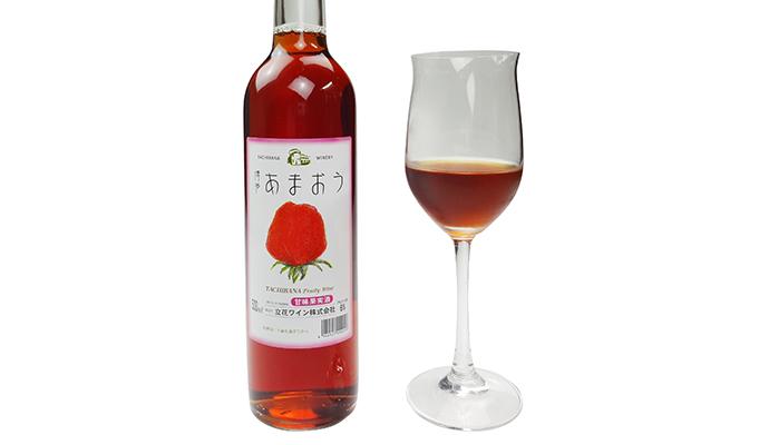 立花ワイン フルーツワイン2本セット(博多あまおう・みかん)