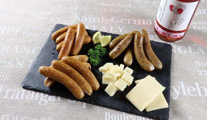 ドメーヌレゾン アッサンブラージュ ロゼ/のぼりべつ ソーセージ3種とチーズのセット